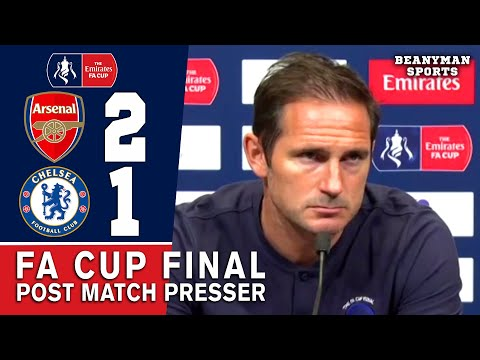 ARSENAL 2-1 CHELSEA - FRANK LAMPARD - POST MATCH PRESS CONFERENCE - FA CUP FINAL