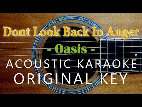 Don't Look Back In Anger Karaoke - Oasis [Acoustic Karaoke]