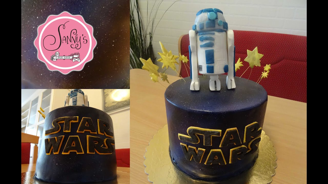 Star Wars R2d2 Torte Galaxy Cake R2d2 Cake Topper Air Brush How To Make By Sanny S Esport Torten