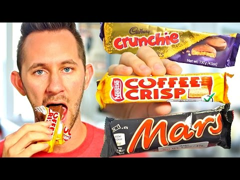Download Youtube: AMERICAN TRIES CANADIAN SWEETS