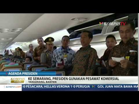 Jokowi Lebih Memilih Naik Pesawat Garuda Komersil