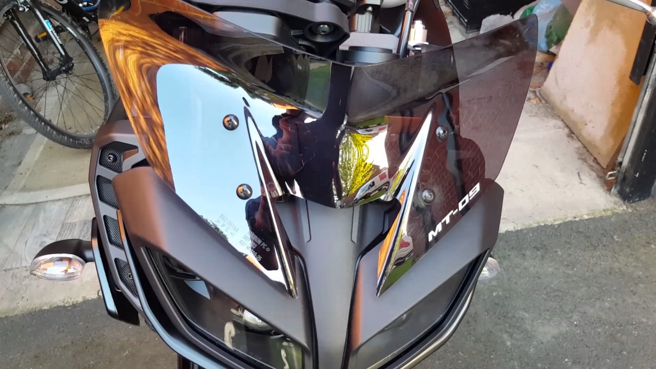 2017 yamaha mt 09 fitting official fly screen