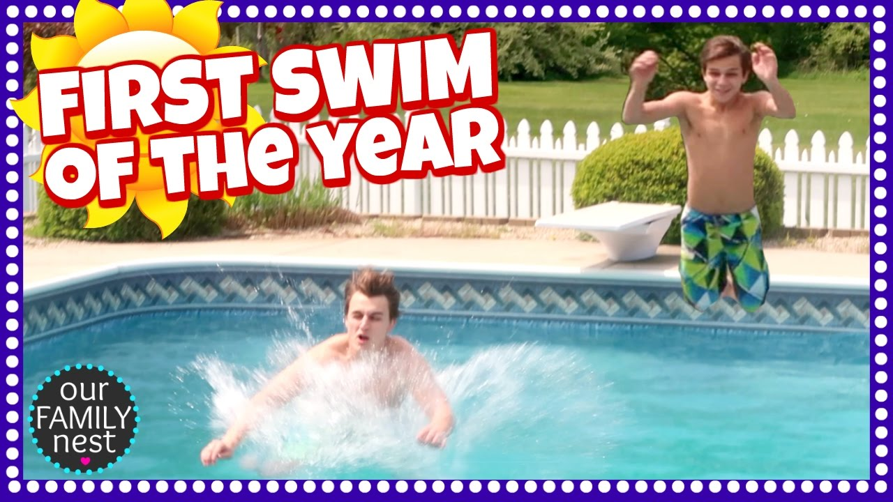 First Swim Of The Year!! Youtube