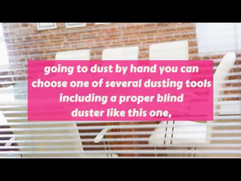 Easy way to clean Horizontal & Vertical Blinds Cleaning