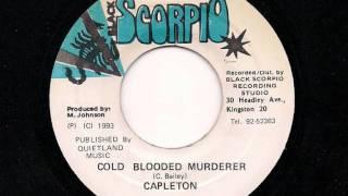 "CAPLETON - Cold Blooded Murderer - JA Scorpio 7"" 1993"