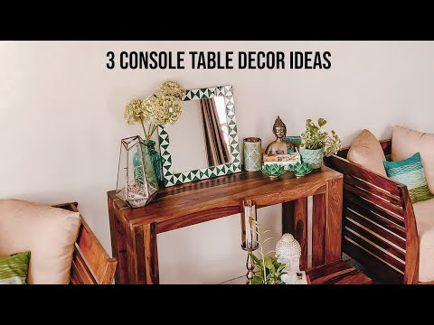 3 STUNNING Console Table Decor Ideas With Product Links || Indian Home Decor by Guiltybytes