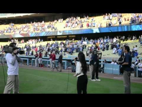 STAR SPANGLED BANNER-Sheryn Regis-Dodger's Stadium