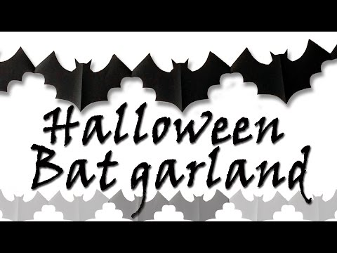 Halloween Bat garland - Halloween decorations - Ana | DIY Crafts