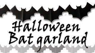 Diy Crafts Bat Garland Hallowee