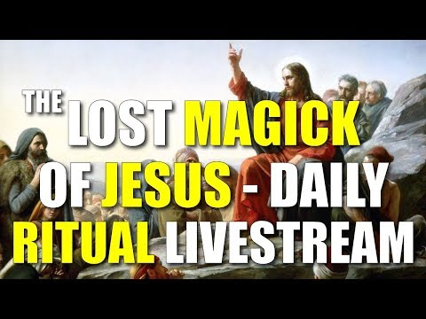 """""""The Lost Magick of Jesus"""" Ritual Livestream - Nourish Your Aura Daily With Solar God-Force Energy!"""