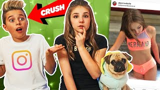 My Crush REACTS To Old INSTAGRAM PHOTOS **FUNNY** 📷 💕| Piper Rockelle