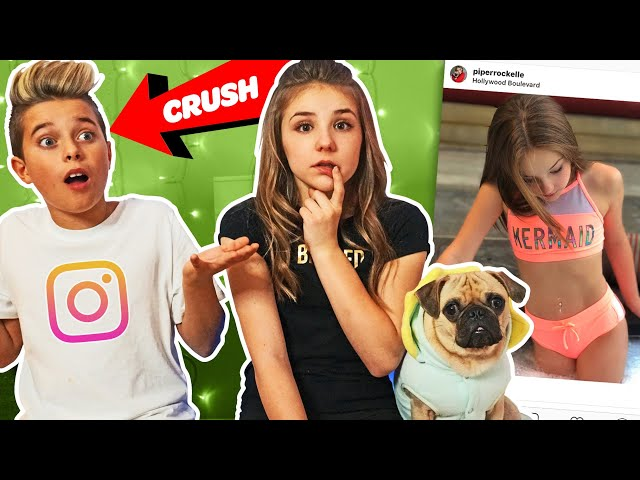 My Crush REACTS To Old INSTAGRAM PHOTOS **FUNNY**