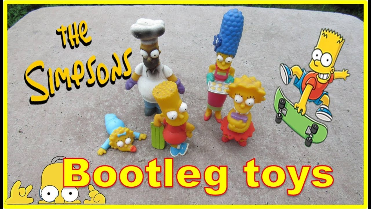 the simpsons bootleg toys bart marge and maggie youtube