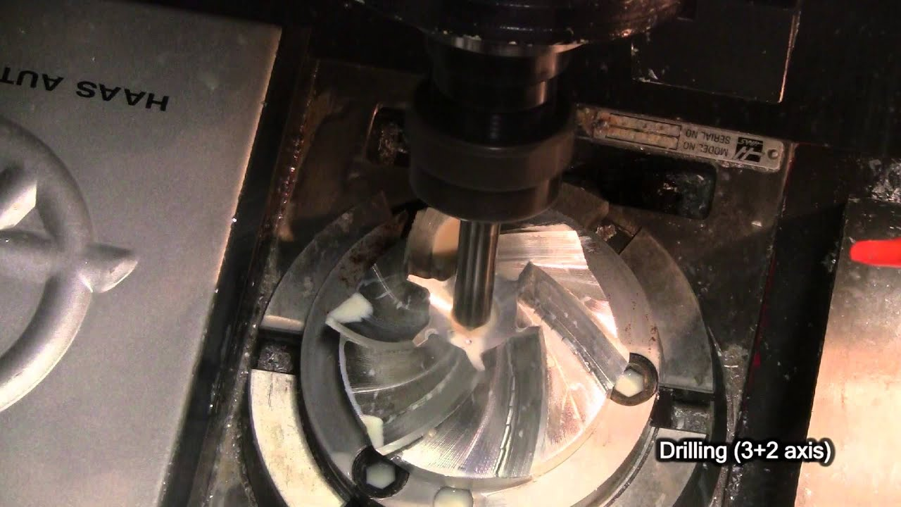 Aluminum 6 Blade Impeller Cnc 5 Axis Project Youtube