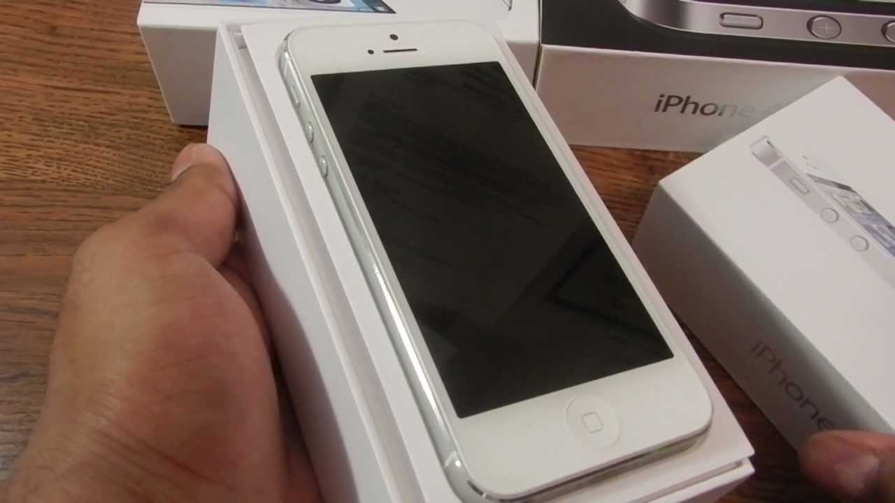 IPhone 5 White Silver Unboxing And Demo Game Play Maps Siri