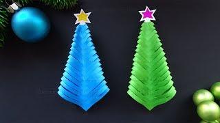 Basteln Weihnachten: DIY Tannenbaum basteln mit Papier 🎄 Weihnachtsdeko selber machen