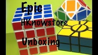 HKnowstore Unboxing! 4X4, super square one and a Rhombic Dodecahedron