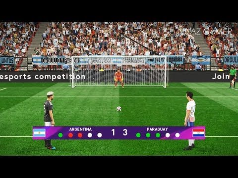 ARGENTINA Vs PARAGUAY | Penalty Shootout | PES 2019 Gameplay PC
