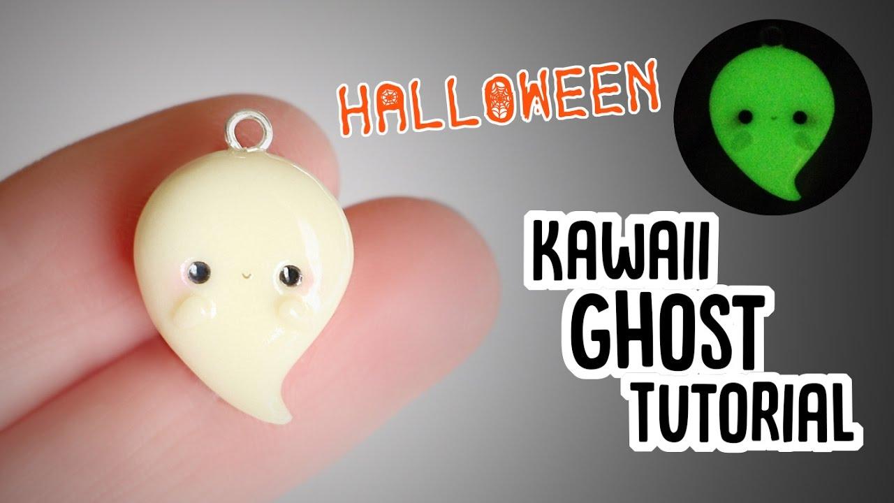 easy kawaii ghost│polymer clay halloween tutorial - youtube