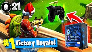 Using a CONTROLLER on the PC to Win in Fortnite Battle Royale!