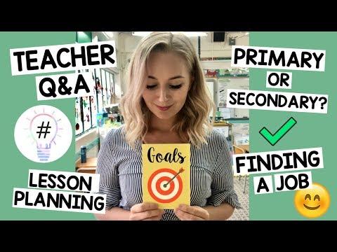 Primary School Teacher UK Q&A (PLANNING, MOTIVATION, ADVICE)