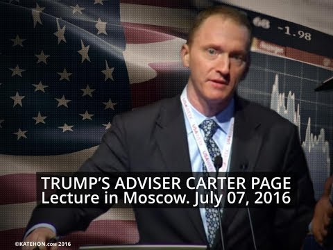 Carter Page at the New Economic School in Moscow