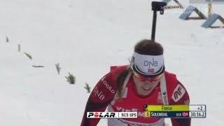 Биатлон Женщины Гонка преследования 10 км. 8 декабря 2013 г. Хохфильцен Австрия
