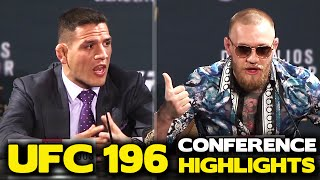Conor McGregor's BRUTAL Verbal Assault on Rafael Dos Anjos Highlights! | UFC 196