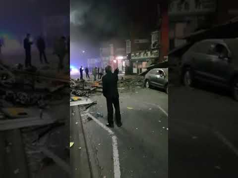 Leicester Hinckley Road explosion seconds after the blast