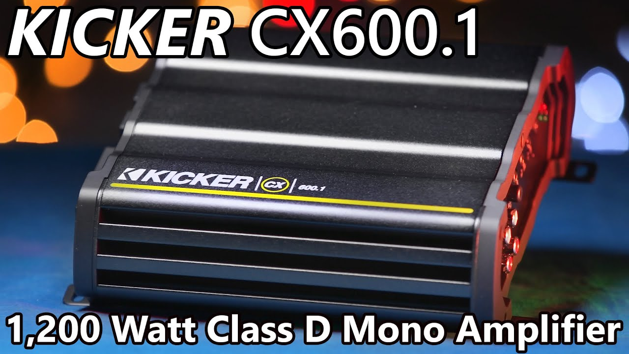 Kicker Cx6001 Amplifier 1200 Watts Youtube 1 Ohm Wiring Diagram