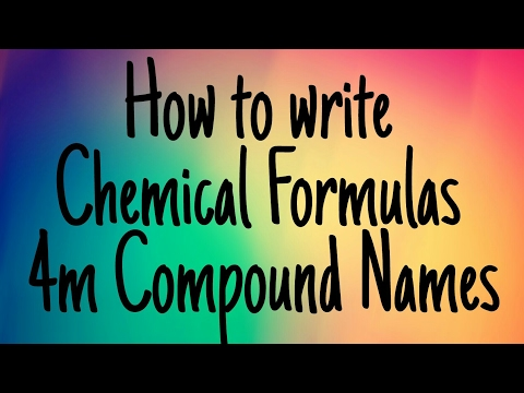 How to Write Chemical Formulas from Compound Names
