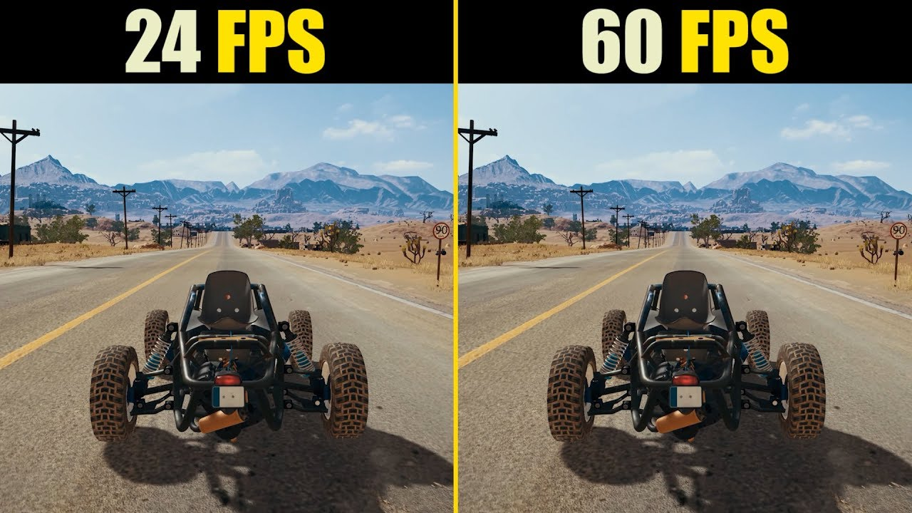 24 Fps Vs 60 Fps Gaming Youtube
