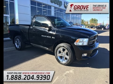 2012 Ram 1500 Sport Black Regular Cab 4x4 Grove Dodge