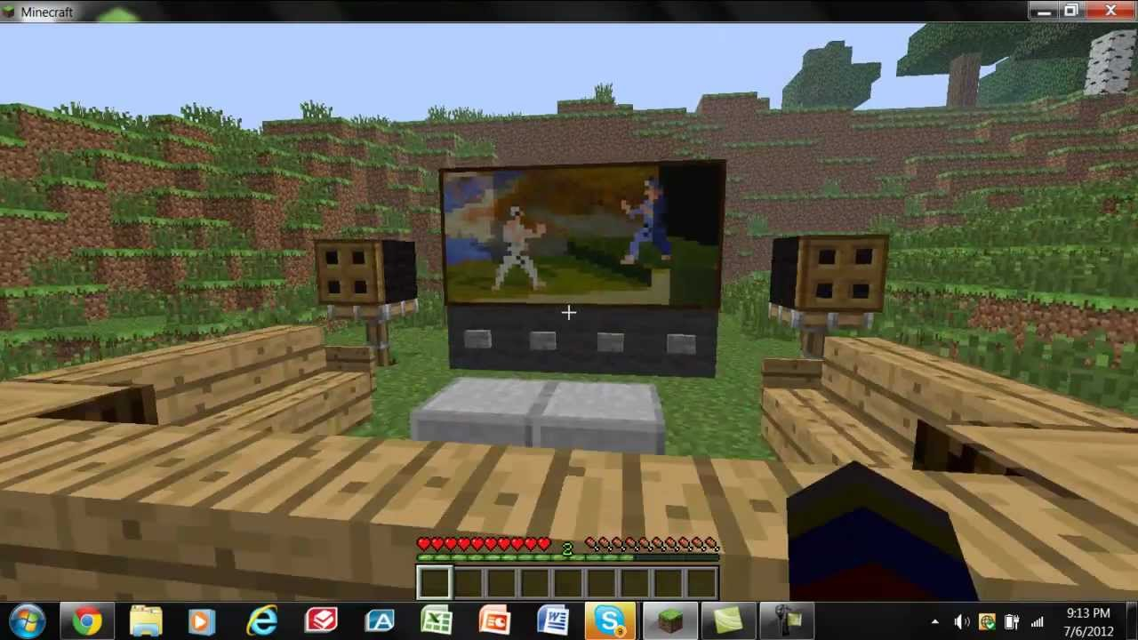 Living Room Minecraft minecraft tutorial] nice living room and tv setup - youtube