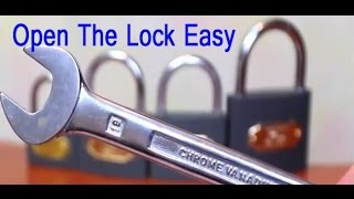 open locks with 2 wrenches