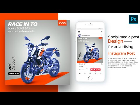 Motorbike Advertising post design for social media || Instag