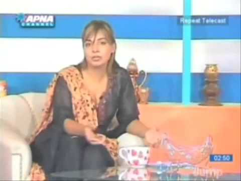 Most Vulgar Dress in a Morning Show of Apna News Channel