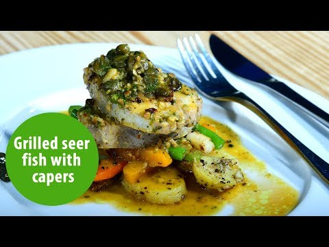 Grilled Seer Fish With Capers And Tropical Vegetables | Onmanorama Food