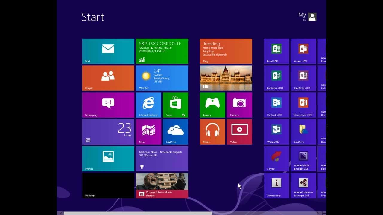 Windows 8: where is the control panel 80