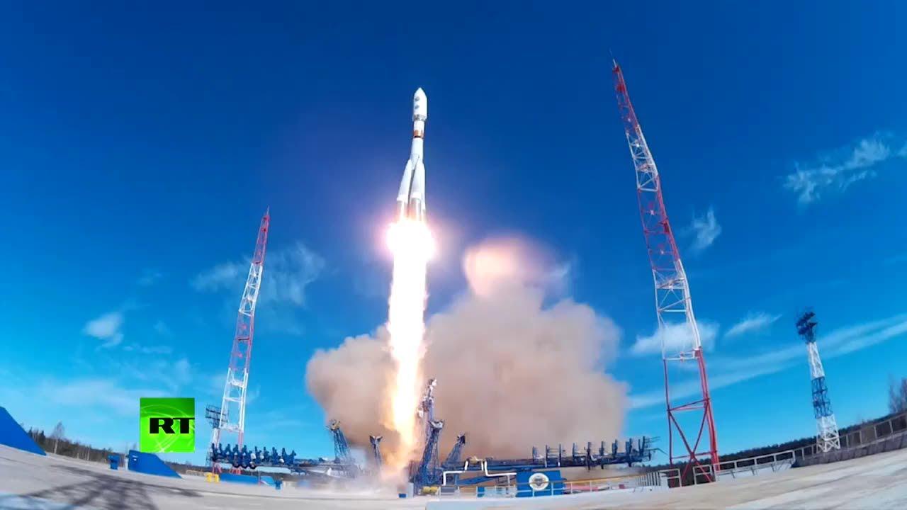 Старт ракеты-носителя «Союз-2.1б» с космодрома Плесецк