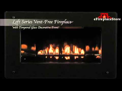 Empire Loft Fireplace With Glass Front Live Burn Video