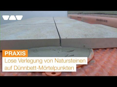 balkonaufbau lose verlegung von natursteinen auf duennbett