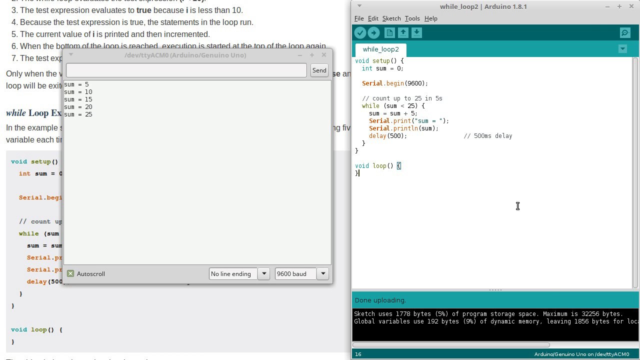 Arduino while loop programming course part youtube
