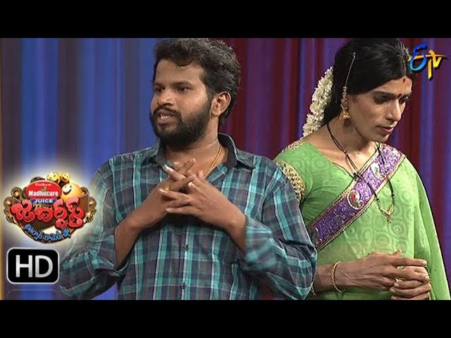 Hyper  Aadi Raijing Raju Performance | Jabardsth | 12th October 2017| ETV  Telugu