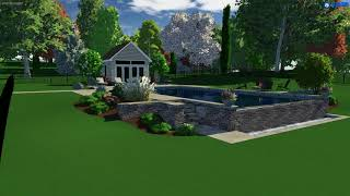Total Pool + Patio, LLC - Vanishing Edge Pool Rendering