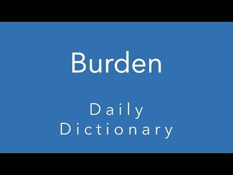 Burden (Daily Dictionary)