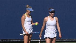 02 07 2016 Harrison/McPhillips (UCLA) Vs Barnett/Larner (NU) #1 women's doubles at LATC