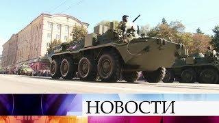 В Брянске прошел парад в честь 75-летия освобождения города от немецко-фашистских захватчиков.