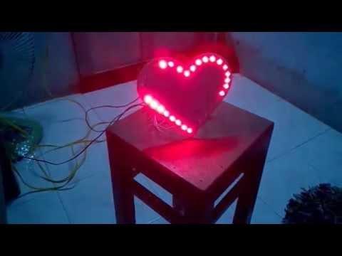 mạch trái tim 32led dùng ic 89s52