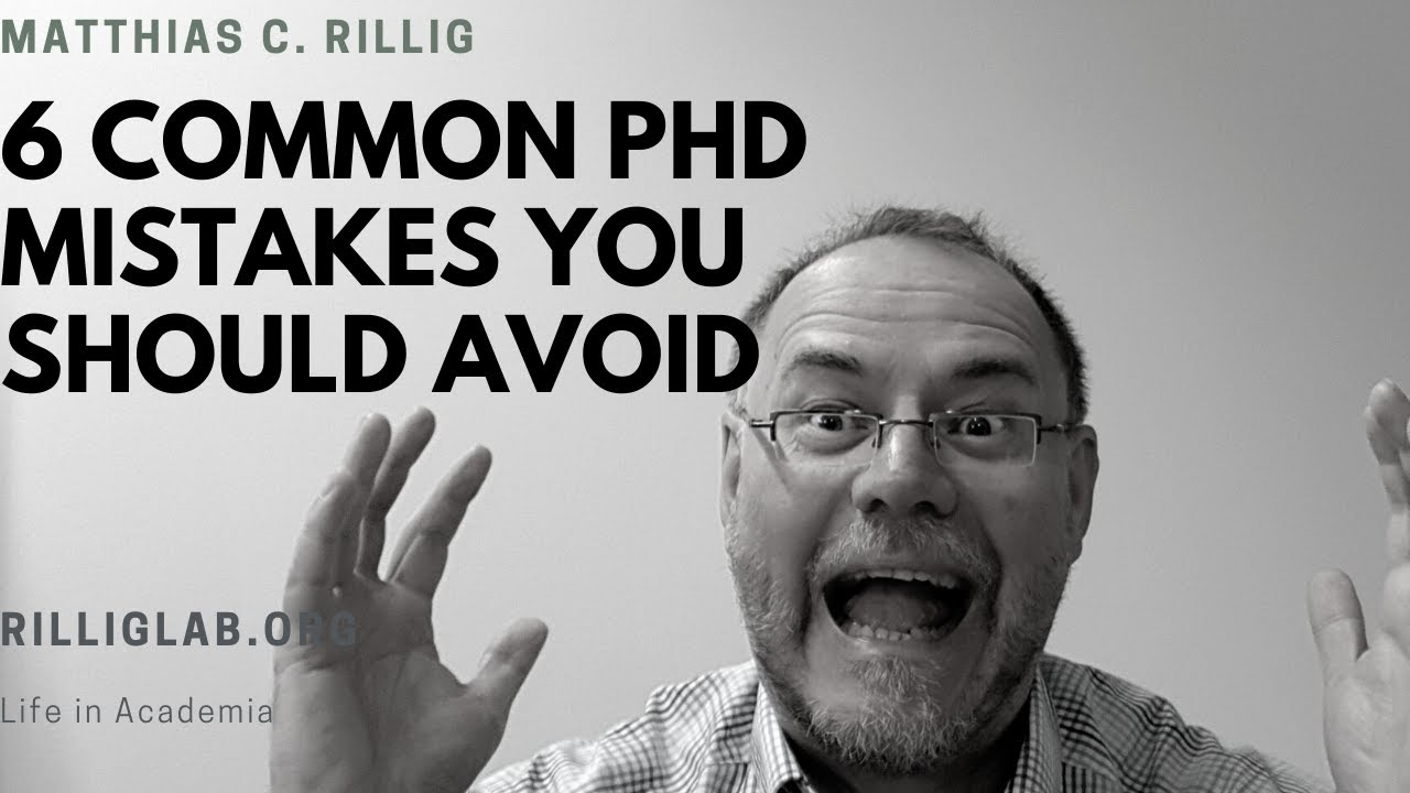 Common mistakes to avoid during your PhD. #gradschool #PhD #doctorate - YouTube